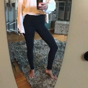 Dark Gray Cotton High Rise Lululemon Leggings
